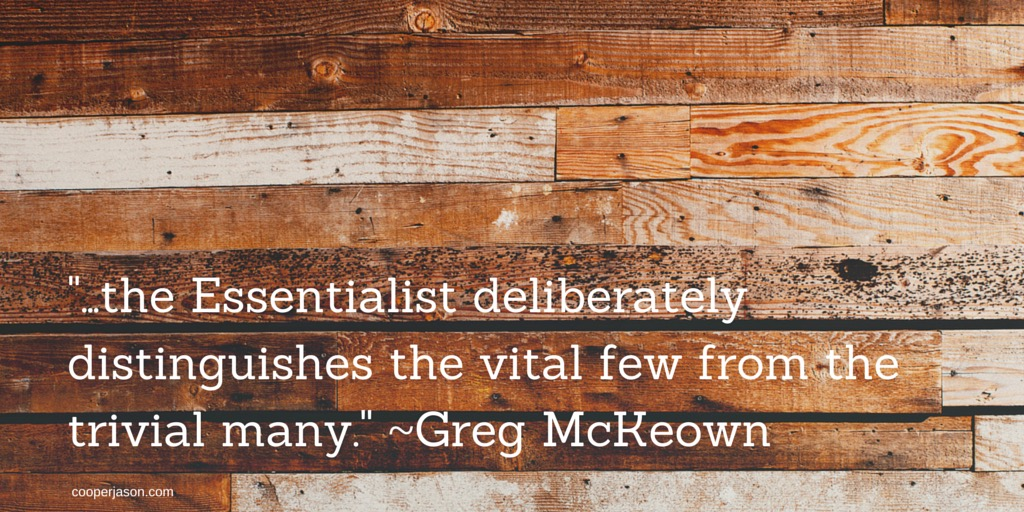 Essentialism – the Disciplined Pursuit of Less [book]